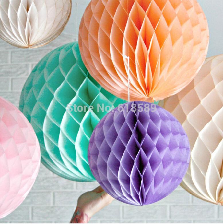 2015 New Arrival 15pcs 6inches (15cm) Decorative Flowers Paper Lantern Honeycomb Balls For Wedding , Kids Birthday Decoration(China (Mainland))