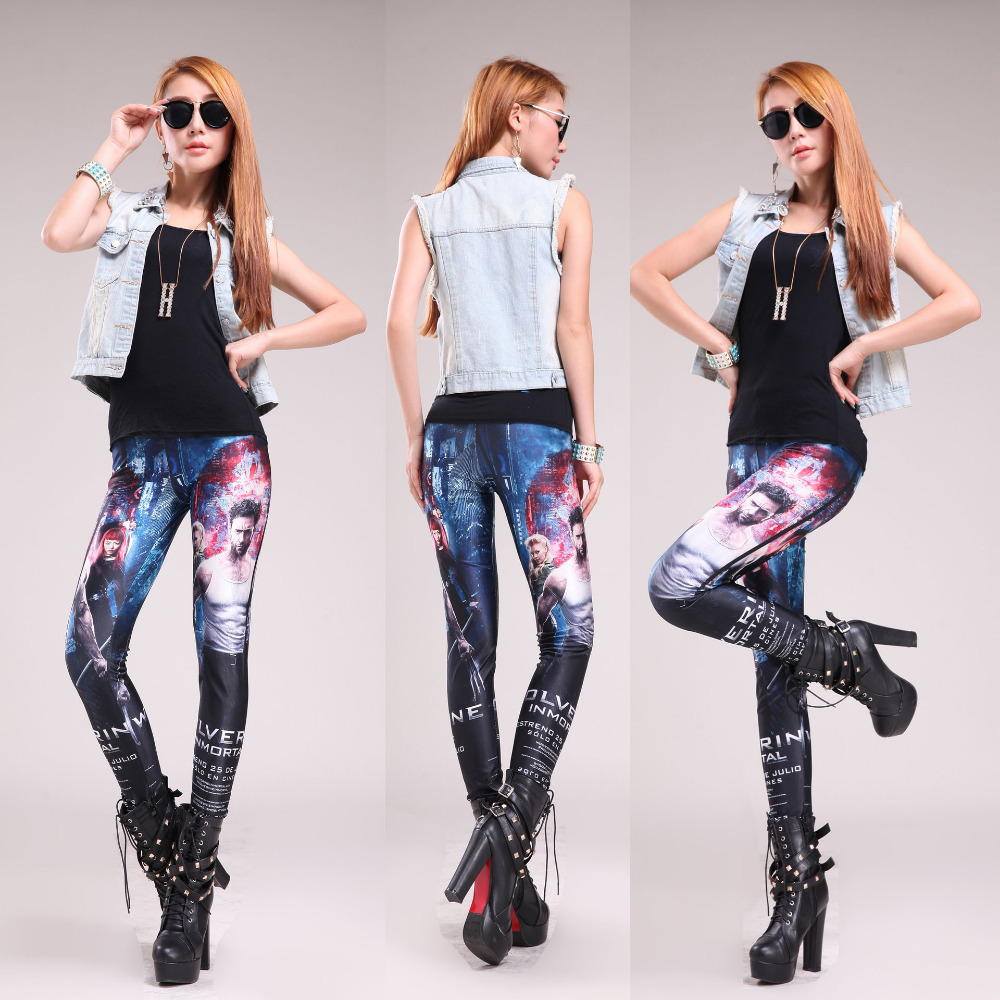 21 Models Fashion Women Skinny Print Leggings Pants Sexy Ladies Tie Dye Stretch HOT SALE Freeshipping Dropshipping(China (Mainland))