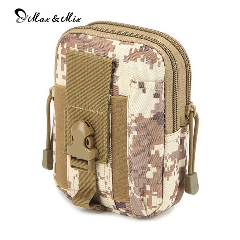 MAX&MIX Multi-function Waist Packs High Quality Casual Mobile Phone Waist Pocket Wear Belt Bag Camouflage Waist Packs(China (Mainland))