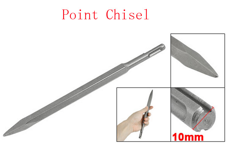 10mm SDS Plus Shank Electric Hammers 4mm x 3.7mm Point Chisel(China (Mainland))