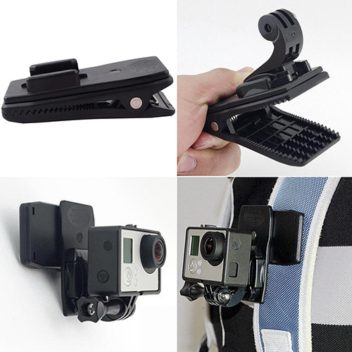 image for 360 Degree Rotary Backpack Hat Rec-Mounts Clip Fast Clamp Mount For Go