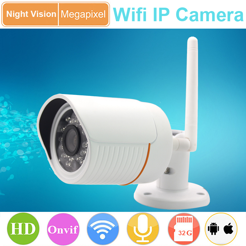 Waterproof Wifi Ip Camera Wifi wireless connect to Router use for Outdoor support SD card ONVIF 720P(China (Mainland))