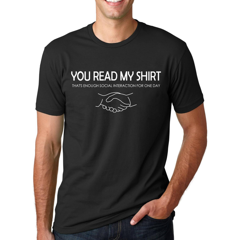 2016 Summer Fashion Slogans TShirt You Read My Shirt That's Enough Men's Short Sleeve Streetwear T-Shirt Hip Hop O-Neck Tops Tee(China (Mainland))
