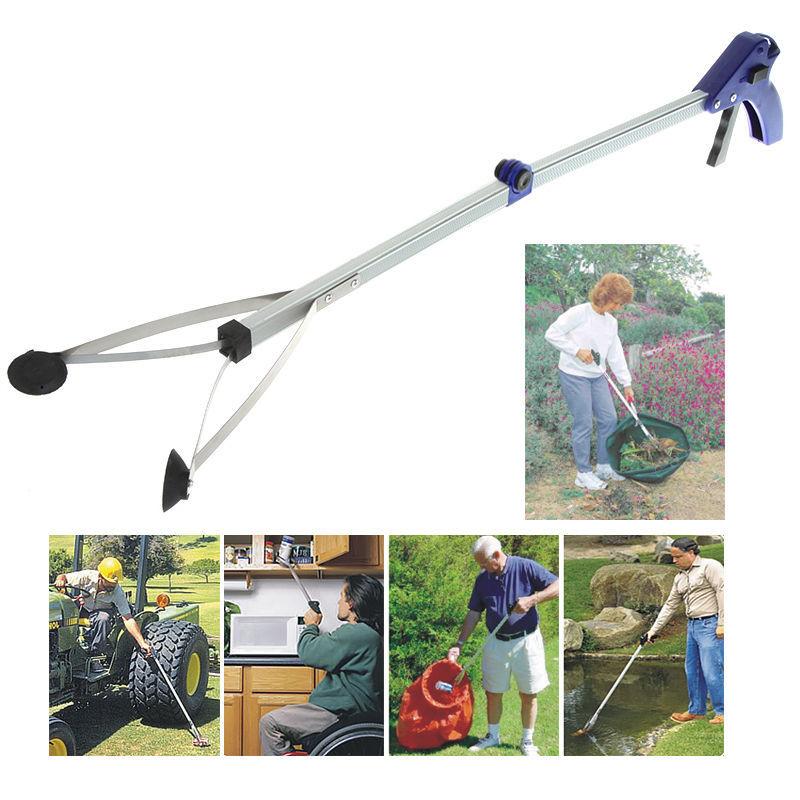 Гаджет  Foldable Pick Up Grabber Gripper Reacher Kitchen Litter Picker Help Hand Tool None Инструменты