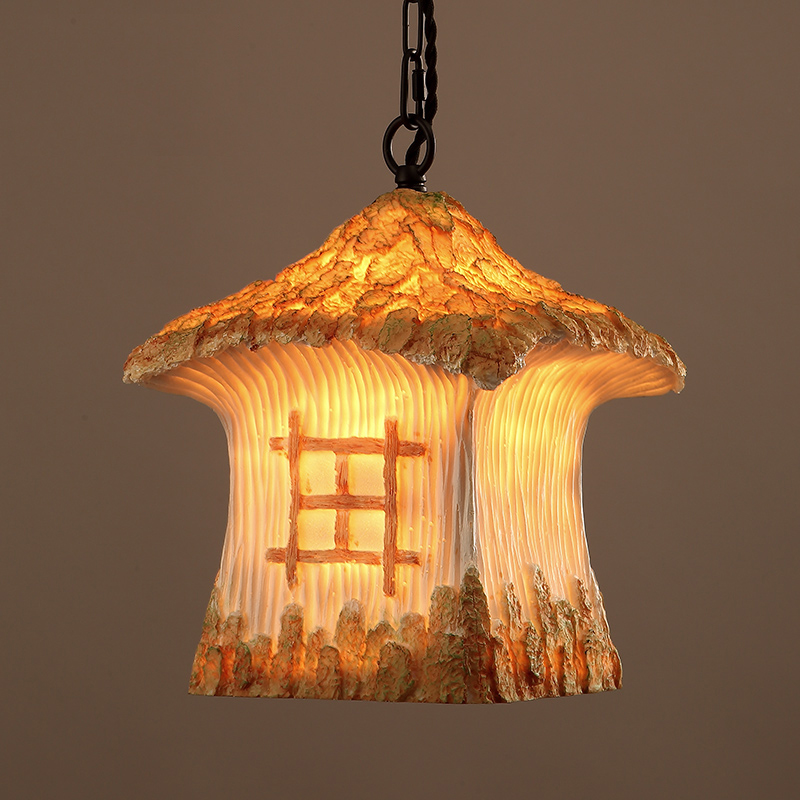 Фотография Vintage American country house resin pendant or retro Cafe decorated with bar pendant