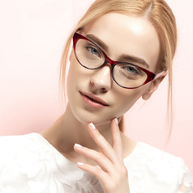 Eyeglass Frames On Models : 2015 New Cute Style Vintage Glasses Women Glasses Frame ...