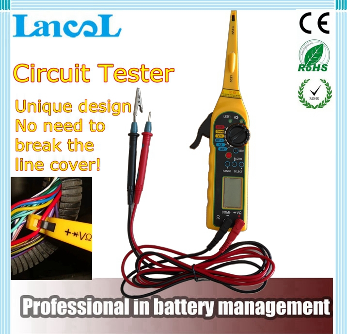 2017 Multi-function Auto Circuit Tester Multimeter Lamp Car Repair Automotive Electrical Multimeter