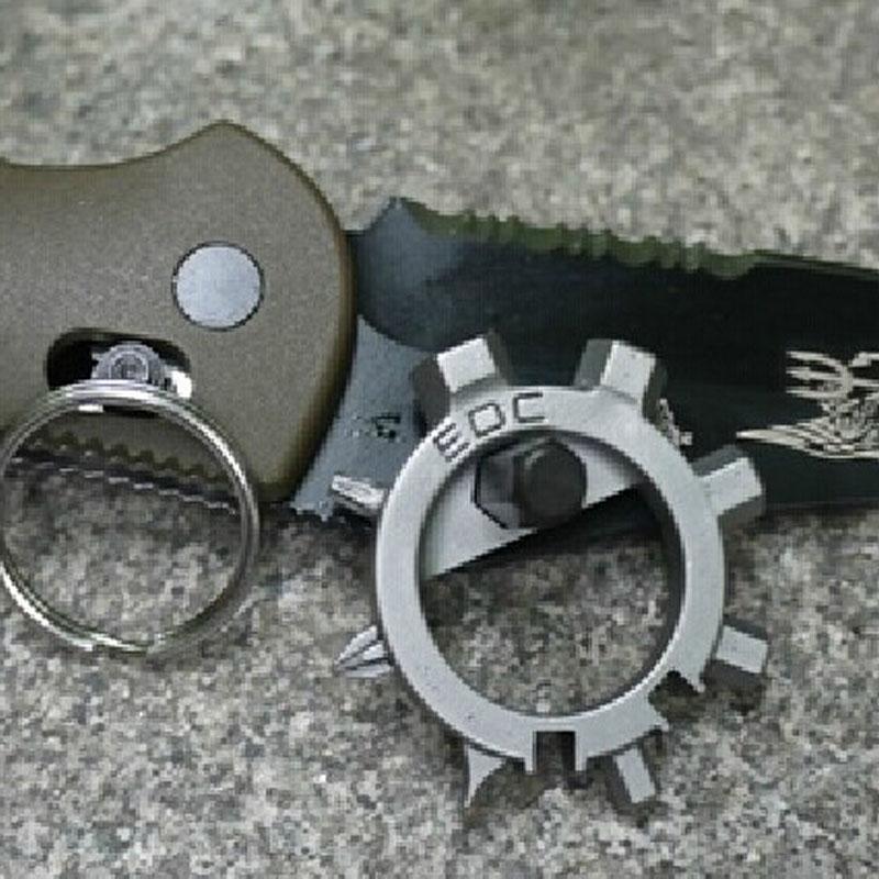 Гаджет   multi function stainless steel  EDC toos  12 function screwdriver key ring bottle opener bicycle adjust tools None Спорт и развлечения