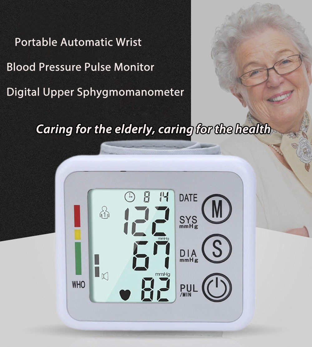 2016 New Health Care Germany Chip Automatic Wrist Digital Blood Pressure Monitor Tonometer Meter for Measuring And Pulse Rate1 cheap