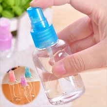 Color send randomly !!! 2 x 30ml Travel Transparent Small Empty Plastic Perfume Atomizer Spray Bottle(China (Mainland))