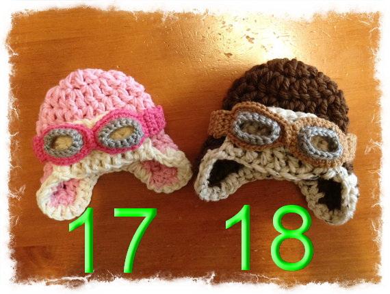 free shipping, 30pcs/lot Crochet aviator hat Handmade hat for boys, pilot crochet hat, crochet newborn hat 100% cotton NB-6year(China (Mainland))