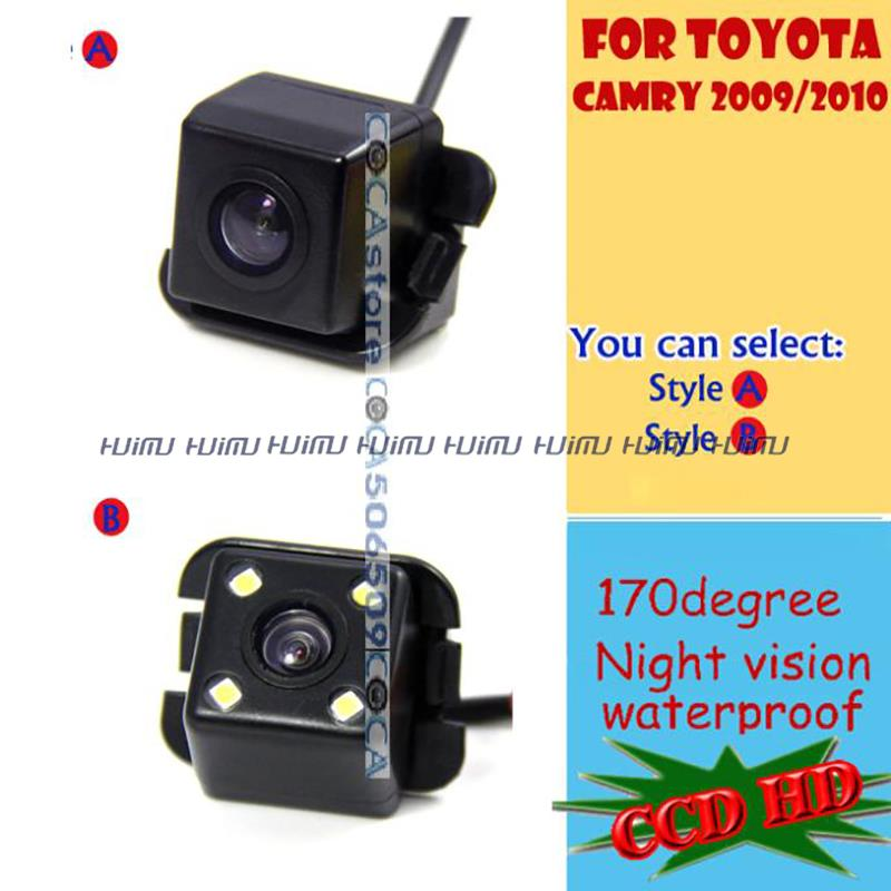 wireless wire CCD HD LEDS Car Rear View camera backup reverse asssit original hole for sony Toyota Camry 2009 2010 2011 PAL/NTSC(China (Mainland))