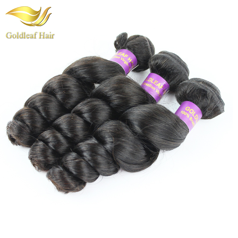 Гаджет  Goldleaf Hair wholesale 100% virgin brazilian curly hair extensions 3 pieces/lot brazilian loose curly hair None Волосы и аксессуары