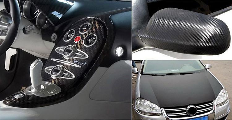 10*63CM New 3D Carbon Fiber Vinyl Waterproof Automobile Protection Stickers DIY Decorative Car Styling Car Sticker CT-308