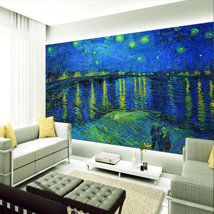 Online kopen Wholesale wallpaper mural van gogh uit China ...
