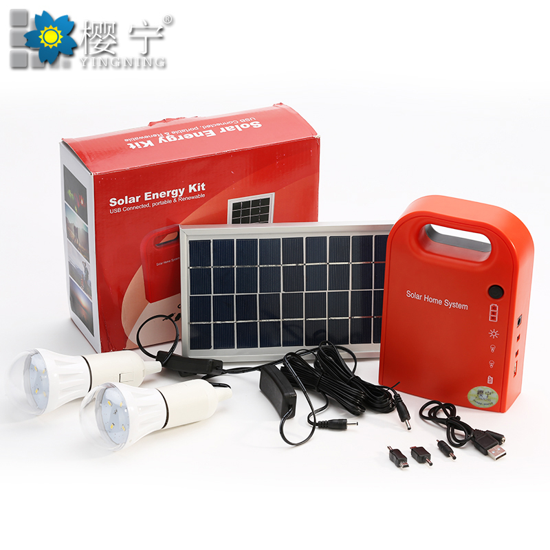 Small household solar panels generating system integrated outdoor camping lights Battery charger(China (Mainland))