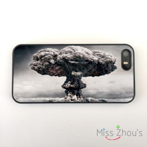 Atomic Bomb Mushroom Cloud Clown back skins mobile font b cellphone b font cases for iphone