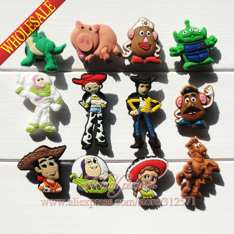 Free Shipping 16 pcs Lot TOY STORY PVC shoe decoration/shoe charms/shoe accessories  for clogs hyb002-02<br><br>Aliexpress