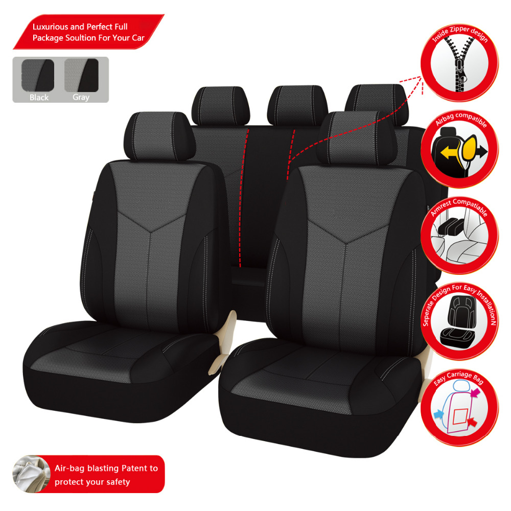 Car-Pass (11PC Front And Rear Seat Covers ) New styling Luxury Car Seat Covers For Universal 5 Seat Covers For hyundai(China (Mainland))