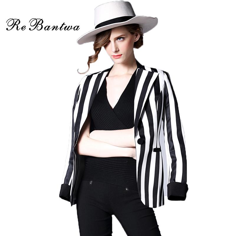 online get cheap black and white vertical striped blazer alibaba group. Black Bedroom Furniture Sets. Home Design Ideas