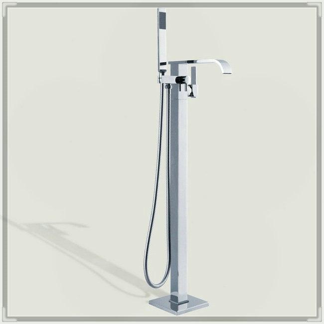 Single Handle Bathroom Bathtub Faucet Single Bars Chrome Shower Floor Faucet KD650 wash tub(China (Mainland))
