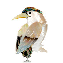 SexeMara Gioelleria raffinata e alla moda Accessori Spilla Per La Ragazza Vintage Uccello Naturale Borsette Sciarpa Risvolto Spille Distintivo Animali Spille Per Le Donne(China)