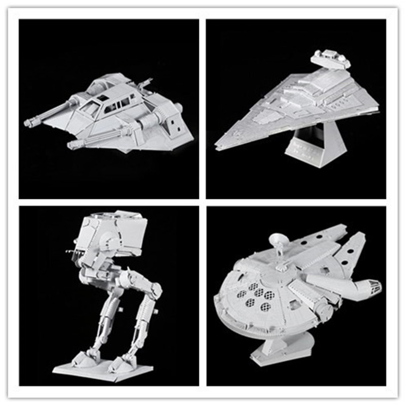 3D Puzzles Laser Cut Jigsaws DIY for Kids Star Wars 3D Nano Metal scale Model Building Architecture educational toy for toddlers(China (Mainland))