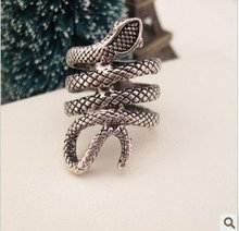 R191  Personality  fashion silver punk gothic snake  ring  TA  rings   wholesale charms9A