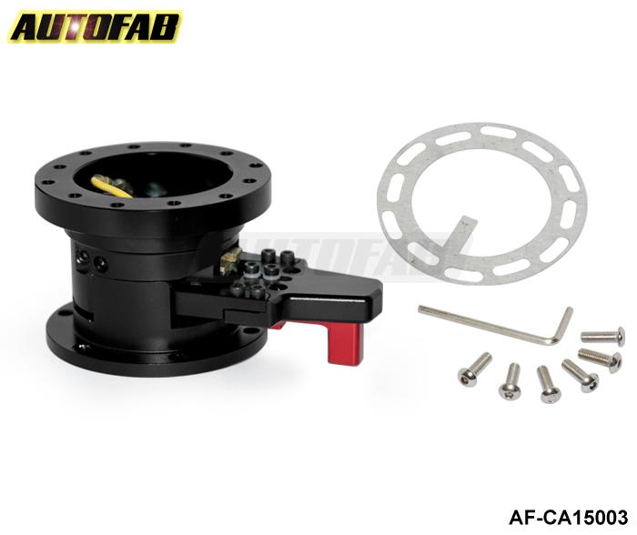 AUTOFAB - STEERING WHEEL BLACK QUICK RELEASE TILT SYSTEM JDM RACE/RACING AF-CA15003(China (Mainland))