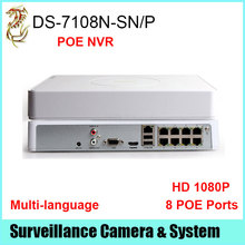 Nvr POE 8CH DS-7108N-SN / P HD 1080 P NVR enregistreur(China (Mainland))