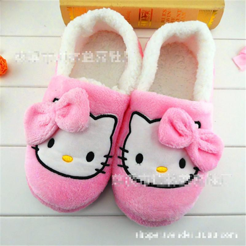 Гаджет  Winter New Cartoon Butterfly Kitten Female Indoor Slippers Lovely Ladies Winter Warm Cotton Slippers Promotional Free Shipping None Обувь