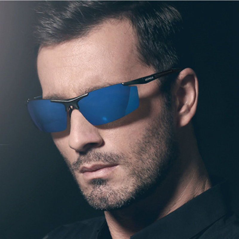 Aluminum Magnesium Polarized sunglasses men sport 2015 high grade anti dizziness anti UV two style exquisite