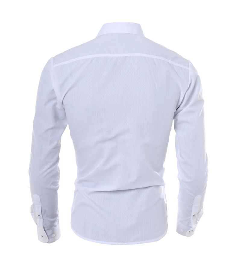 M 5XL Plus Size Professional Mens Dress Shirts Fashion Moisture Wicking Long Sleeve Solid Hombre Camisa