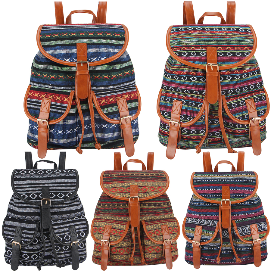 buy 2016 handmade beautiful vintage canvas printing backpack women drawstring rucksack bagpack. Black Bedroom Furniture Sets. Home Design Ideas