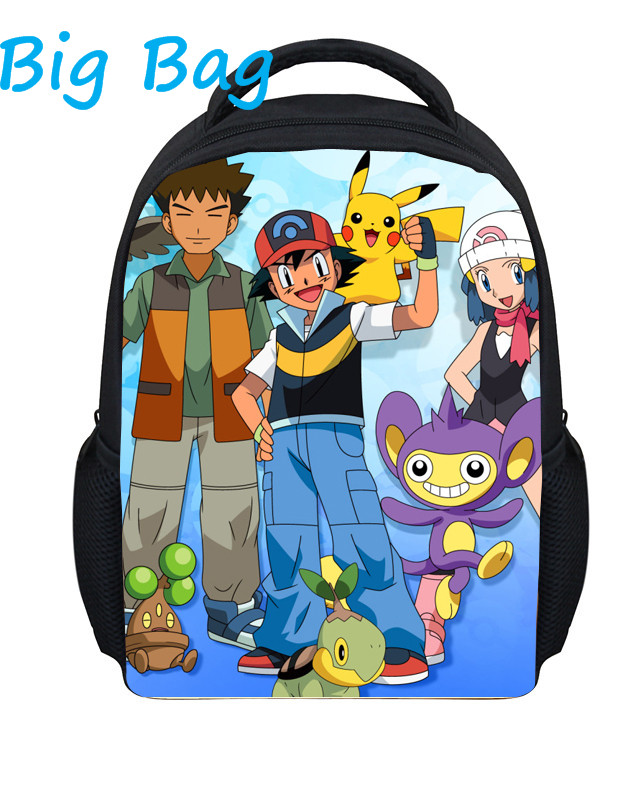 2016 New Arrival Cartoon 13 Inch Backpack Pokemon School Bags For Little Cute Pikachu Kids Bag Child School Backpack For Baby(China (Mainland))