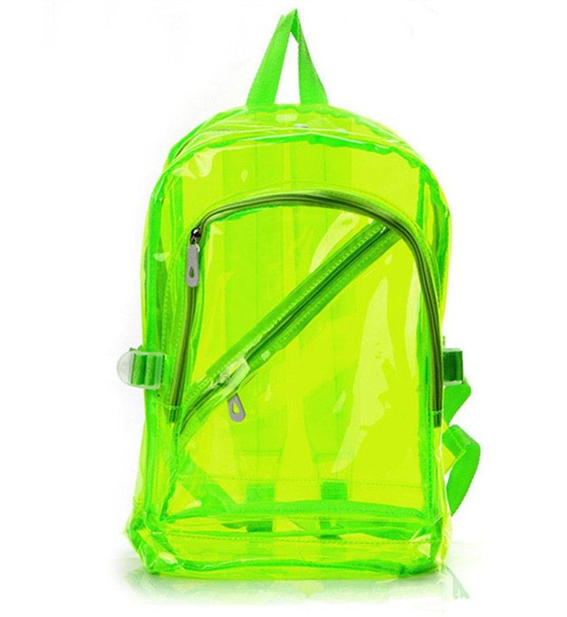 High Quality Men&Women Transparent Clear Plastic Backpack Waterproof Backpack For Teenager School Bags HBE54 (6)