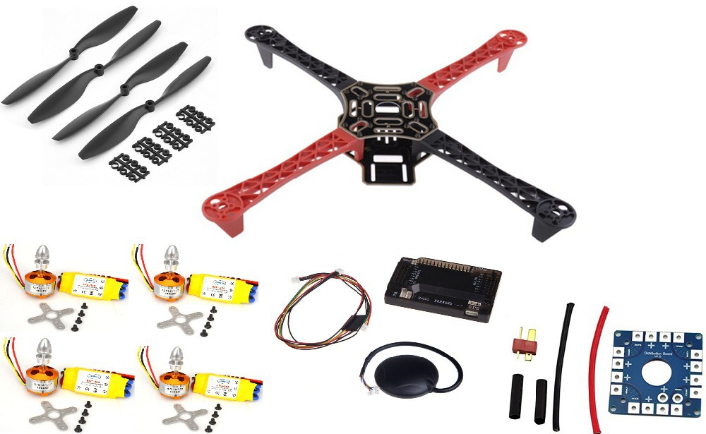 Фотография F450 Quadcopter Rack Kit Frame APM2.6 and 6M GPS 2212 1000KV HP 30A 1045 prop ~F4P01