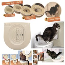 New Plastic Easy To Learn Cat Toilet Training Kit Pet Tray And Keep Healthy Behaviour Aids drop With Cat Nip(China (Mainland))