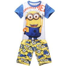 2016 summer style Boys T-shirts dog T-shirt short sleeve cartoon t shirt kids clothes boys brand clothes sets(China (Mainland))