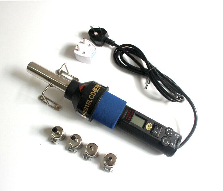 Free Shiping 220V-240V 450 Degree LCD Adjustable Electronic Heat Hot Air Gun Desoldering Soldering Station IC SMD BGA +4 8018LCD(China (Mainland))