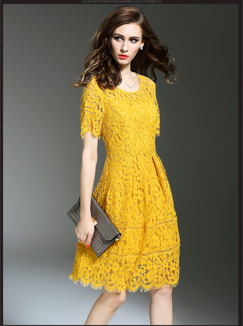Free Shipping 2016 Summer Wear New Style Women 39 S Clothing Lace Dress Hot Sale A01862 In Dresses
