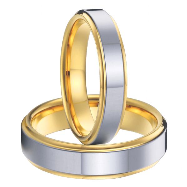 1 pair 18k gold plated health titanium wedding bands
