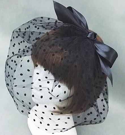 Fashion Fascinator Wedding Party Veil Feather Hair Clip Mesh Net Handmade Bowknot Headpiece(China (Mainland))