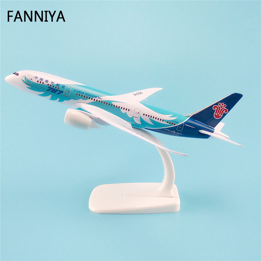 20cm Metal Model Airplane Air China Southern Airlines Boeing 787 B787 B-2725 Airways Plane Model W Stand Aircraft Kid Gift(China (Mainland))