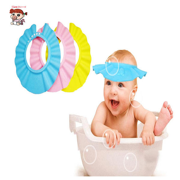 Hot Adjustable EVA Soft Baby Shampoo Shower Cap Bath Bathing Baby Care Bath Protection For Kid