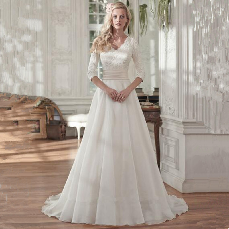 Online Get Cheap Modest Vintage Wedding Gowns -Aliexpress.com ...
