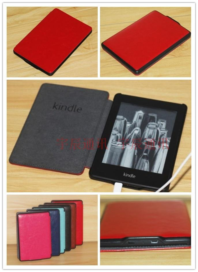 EMS Shipping;6 color for Kindle paperwhite Smart leather case cover with sleep funtion ;<br><br>Aliexpress