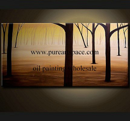 Forest -100% handmde abstract oil painting,60x120cmx1pcs,support a wholesale price(China (Mainland))