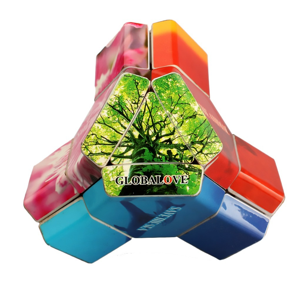 Eight Axial Magic Cube Nature Pattern Caring for the Earth Platypus Style Irregular Brain Teaser Cubo Magico Puzzle Toys()