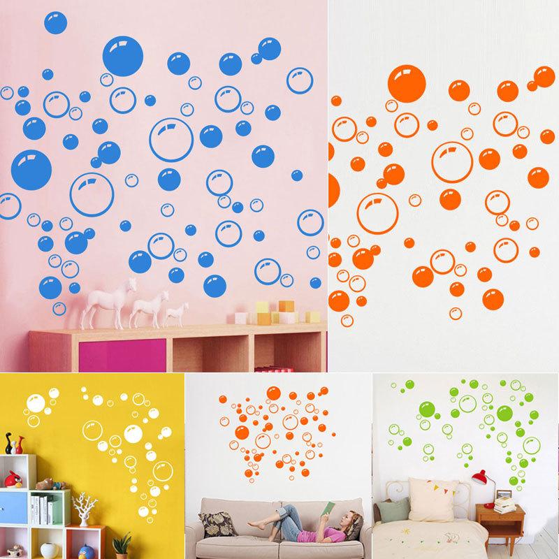 Bubbles Wall Art Sticker Bathroom Window Shower Decor Kid Car Stickers Home Decor Room Decorations A1(China (Mainland))